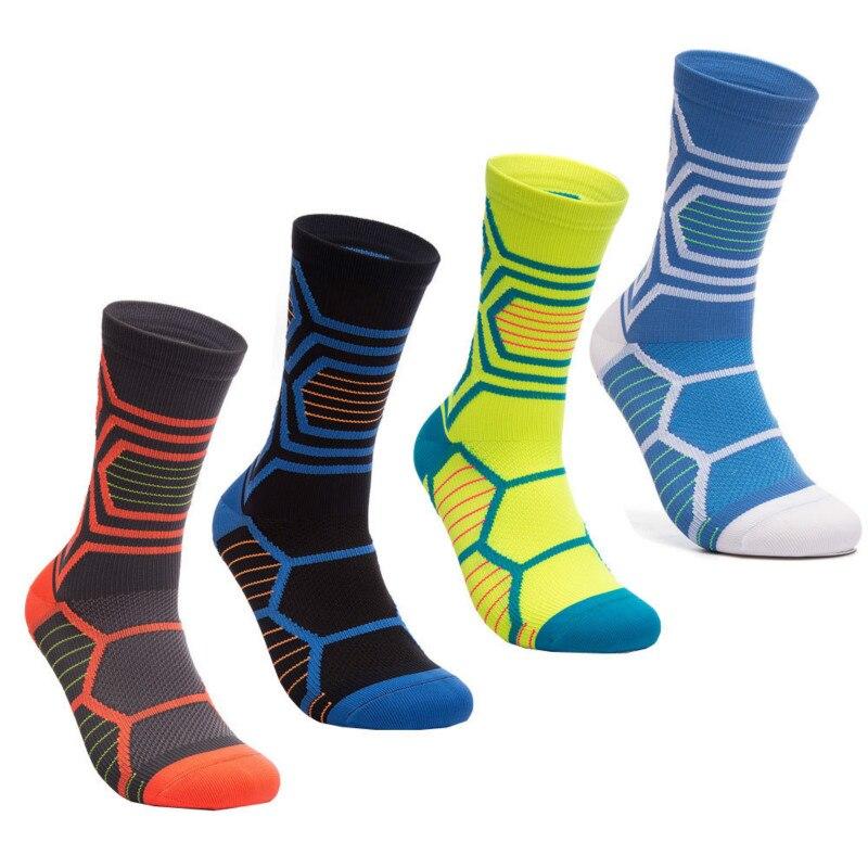 Дышащие нескользящие носки для велоспорта MTB мужские велосипедные носки компрессионные носки для спорта на открытом воздухе, баскетбола, п...