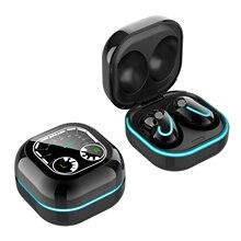 S6 SE BT5.1 호흡 램프가있는 무선 이어폰 자동 페어링 소음 감소 충전 박스 다이얼 디자인 전원 디스플레이