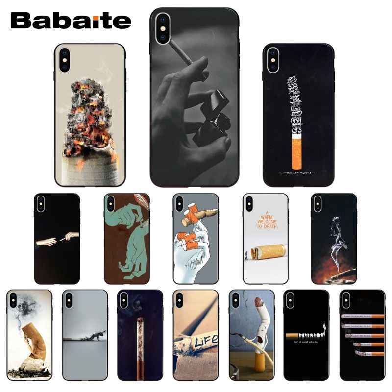cigarette aesthetic Photo Soft Phone Case For iPhone 8 7 6 6S Plus 5 5S SE 11 11pro max XR X XS MAX Coque Shell Coque Shell