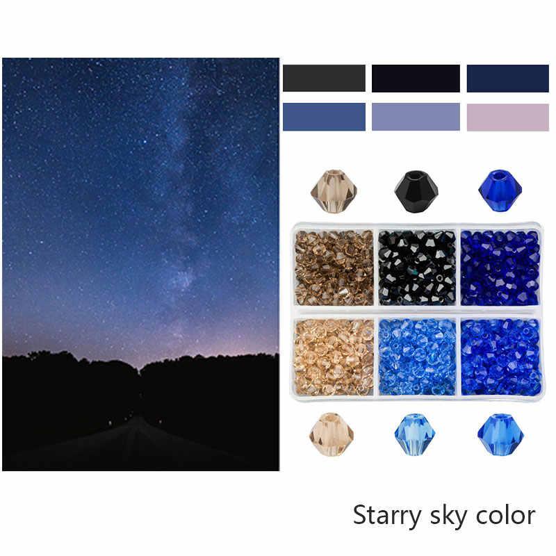 600 Buah Grosir 4 Mm Kaca Bicone Manik-manik Manik-manik Kristal Ragam Austria 5238 Manik Bordir untuk Membuat Perhiasan Terbaik warna