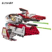 цена на 10575 BALE Star Wars Obi-Wan's Jedi Interceptor Model Building Blocks Enlighten Action Figure Toys For Children Compatible Legoe
