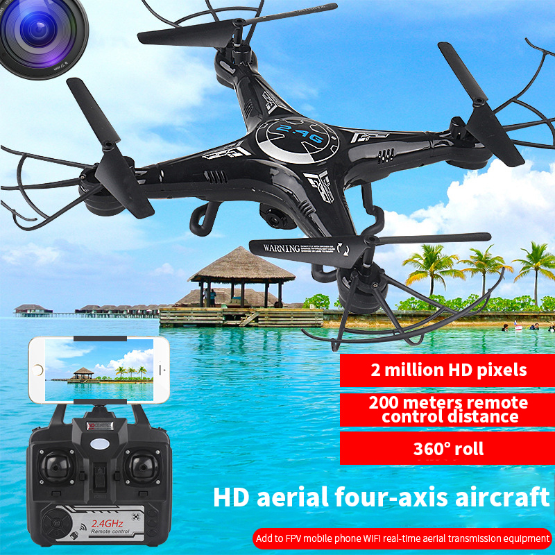 RC Drone Helicopter With Camera 2MP WiFi FPV Drone Altitude Hold Quadcopter Aircarft Headless Mode RC Quadrocopter Toys For Kids image