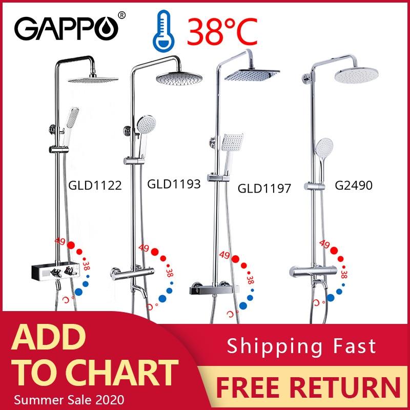 Top SaleGAPPO Bathtub Faucet Taps Shower-Mixer-Set Waterfall Rain Chrome-Color
