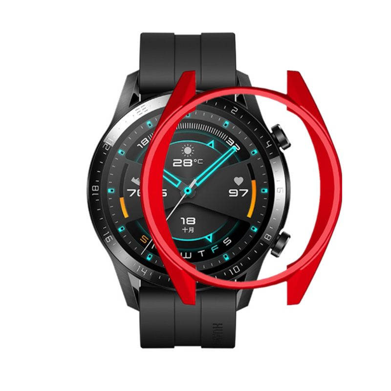 Soft TPU Full Case Cover Colorful Screen Protector For Huawei GT2 46mm Watch Kit