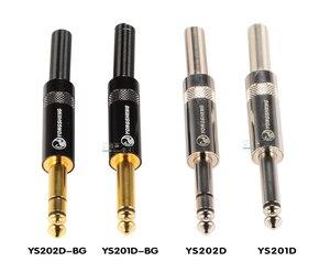 Image 5 - YongSheng (Neutrik) Jack 6,35mm, Conector grande de dos núcleos/tres núcleos TS/TRS, mono, salida estéreo, cable de micrófono de guitarra de 6,5mm