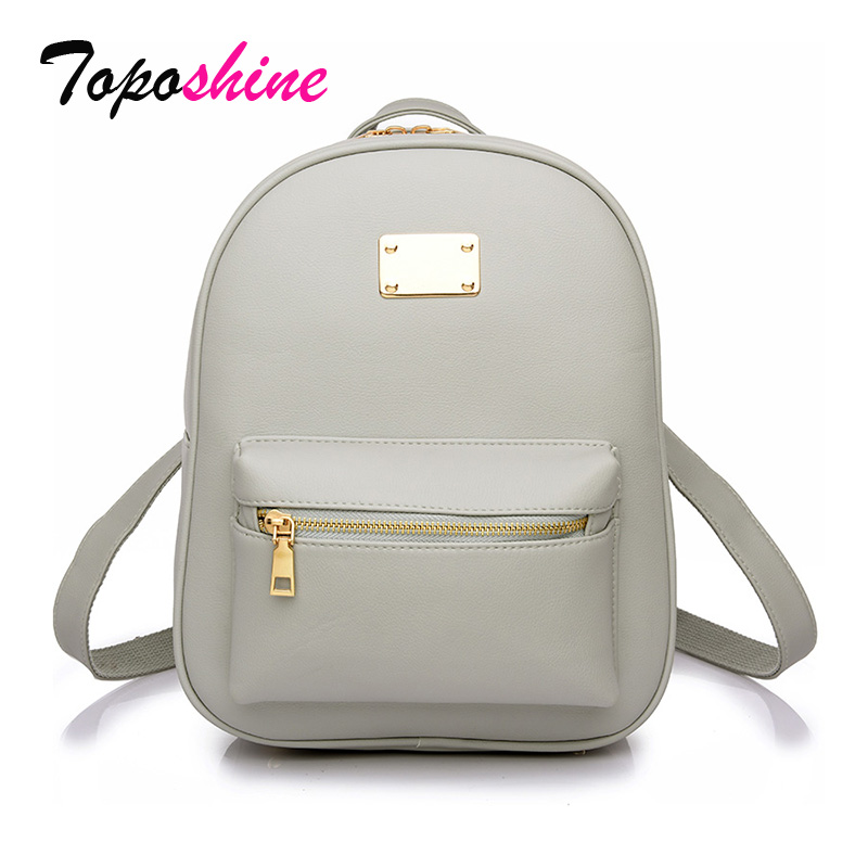 Toposhine Women Backpack Girls Bags Fashion Ladies for Black Female 1538