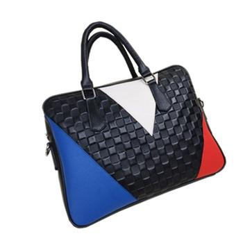 Genuine leather women Bag female fashion leather handbags Contrast briefcase leather handbag GN-SB-zszpnb