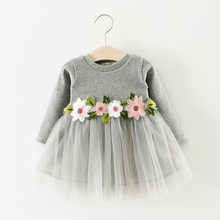 Winer Baby Dresses Long Sleeve warm kids Toddler Girls Princess Dresses Baby Girls Clothes party dress