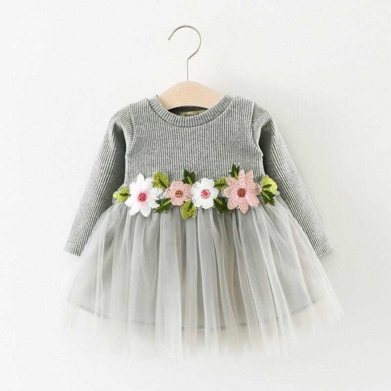 Детские платья с длинным рукавом Winer, теплые детские платья принцессы для маленьких девочек, одежда для маленьких девочек Вечерние вечернее платье|Платья| | АлиЭкспресс