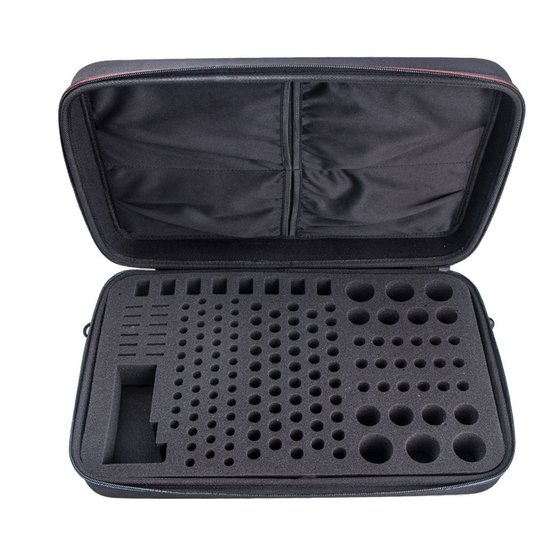 Hard Battery Organizer Storage Box, Carrying Case Bag Holder - Holds 148 Batteries AA AAA C D 9V- with Battery Tester BT-168 (B