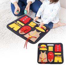 Dressing-Learning-Board Busy-Board Teaching-Aids Early-Educational Toddler Durable