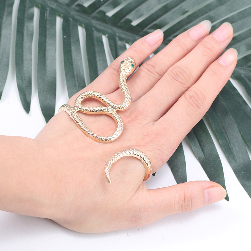Animal-Bracelet Bangles Gifts Punk Crystal Hip-Hop Gold Bohemian Women for Bronze Silver title=
