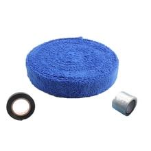 Badminton-Grip with Seal-Tape Base-Film Microfiber Hand-Gel Tennis-Racket Sweat-Band-Rubber