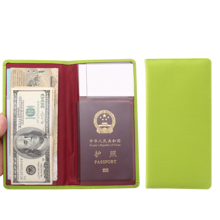 Jiexi 10.7 * 21cm Solid Color Lengthen Popular Fluorescent Green Color Jelly Passport Cover Case Travel Accessories ZSPC59
