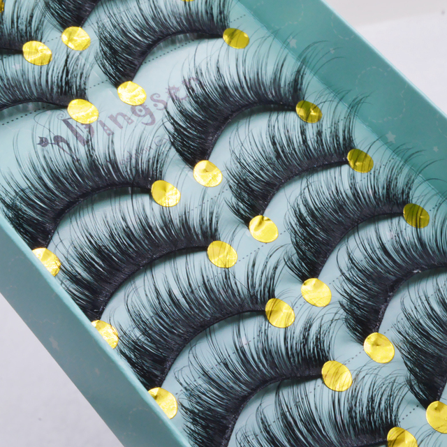 10 pairs natural false eyelashes fake lashes long makeup 3d mink lashes eyelash extension mink eyelashes for beauty 3D66-71 3