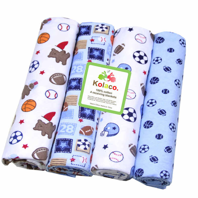 4 ชิ้น/แพ็ค 100% ผ้าฝ้ายผ้าห่มเด็กทารกแรกเกิดผ้าห่ม 76x76 ซม.SuperSoft ผ้าห่มผ้าปูที่นอนเด็ก cobertor
