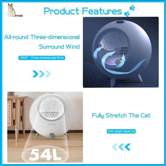 Pet Drying Box 54L Cat & Dog Hair Dryer  3