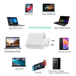USB-C PD 87 Вт адаптер питания, 1 порт PD87W/65 Вт настенное зарядное устройство для ноутбука адаптер для MacBook IPad Pro,USB A 2.4A для Samsung IPhone Huawei