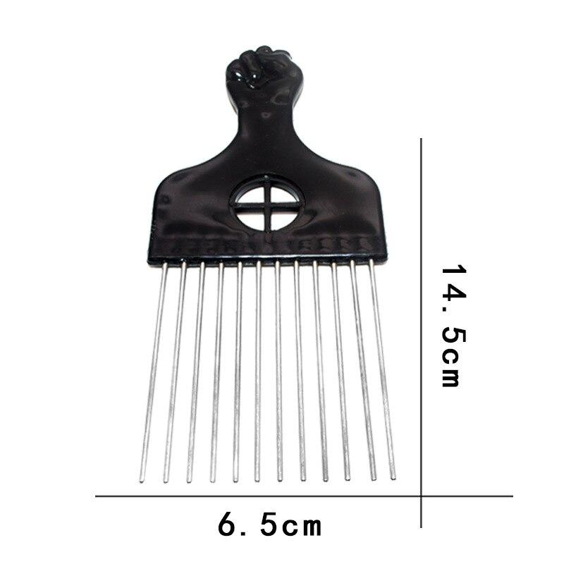 escova de cabelo garfo picareta pente preto