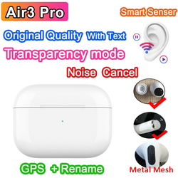 Air3 Pro Airoha Chip TWS Wireless Bluetooth Earphone With Text Transparency Mode Sensor Bluetooth Earbuds PK i90000 i300000 PRO