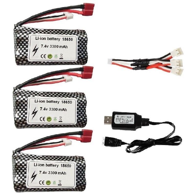(T plug ) Wltoys 10428 12429 12423 12427 12401 12402 12402-A 12402A радиоуправляемые автомобильные запчасти 7,4 V 3300MAH литий-полимерная батарея 2S 18650
