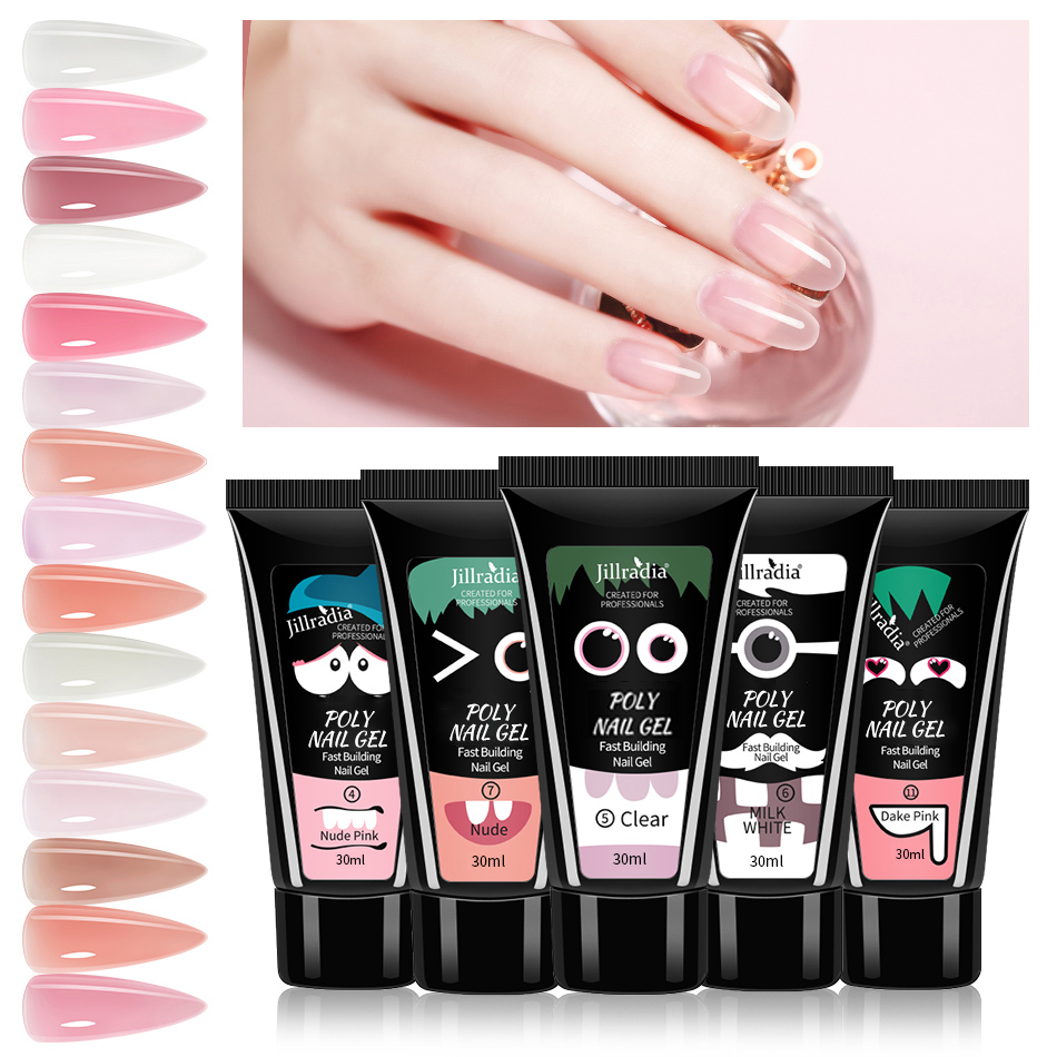 Poly UV Gel For Manicure Tools 30/15ML Nail Builder Gel Polish For Nails Art Design Crystal Nail Gel Varnish For Nails Extension|Nail Gel| - AliExpress