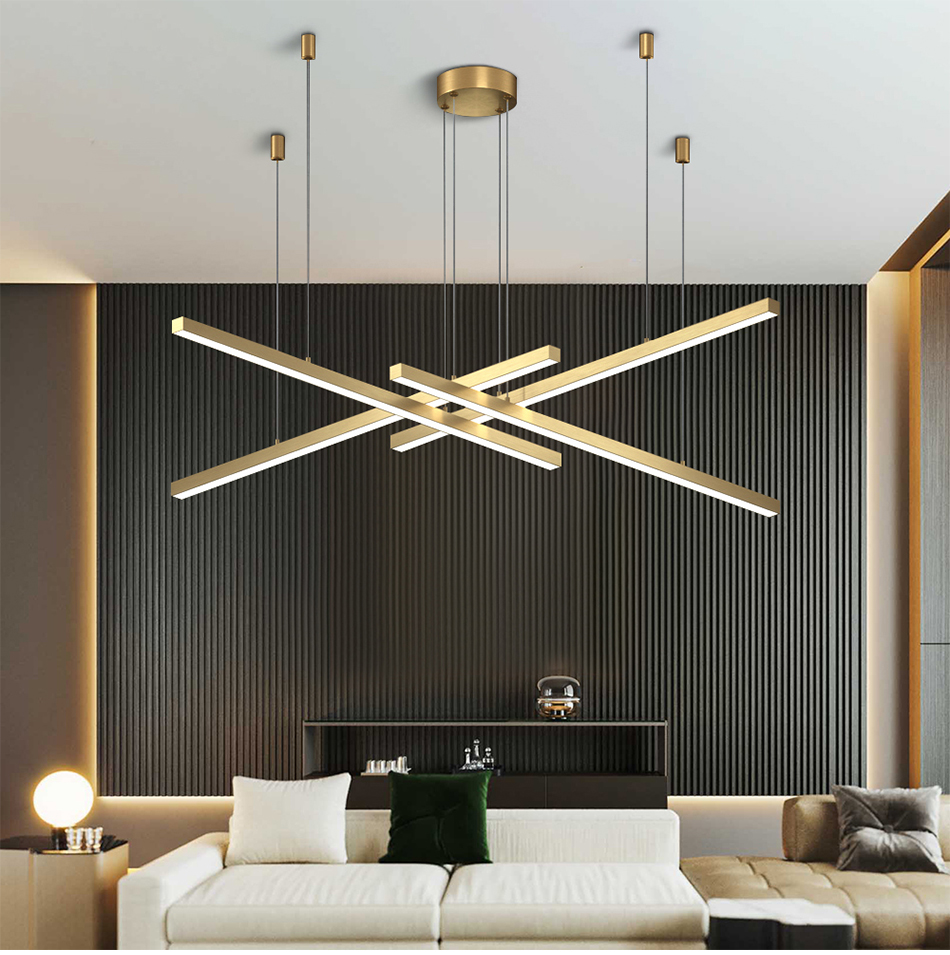New Modern LED Chandelier Lighting Brief Gold Home Decoration Hanglamp  Living Dining Room Light Fixtures Kitchen Island Lamp Contemporary Ceiling  ...