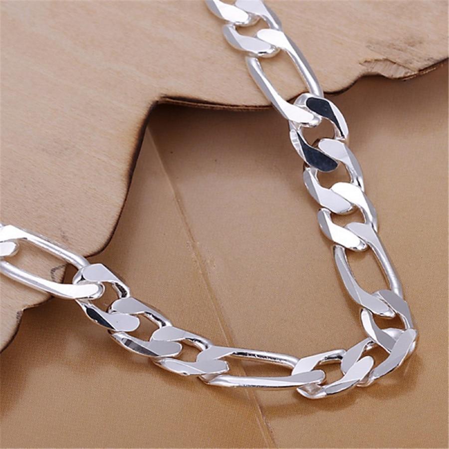 wholesale Noble fashion silver color Gold color 8MM men Women Bracelet charm wedding chain high quality jewelry H200