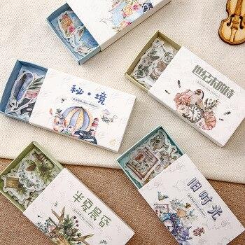 Mohamm каваи Ретро Серия времени милые наклейки на заказ наклейки s дневник стационарные хлопья скрапбук DIY декоративные наклейки s