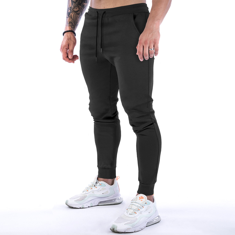 2021Men Joggers Pockets Pants Casual Gym Workout Track Breathable Muscle Fitness Running Comfortable Slim Fit TaperedSweatpant