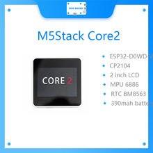 Chegada nova official m5stack oficial core2 esp32 iot kit de desenvolvimento D0WDQ6-V3 controlador + 2.0 Polegada lcd tft com tela toque