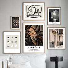 Abstract Figure Line New York London Facade Wall Art Print Canvas Painting Nordic Poster Modern Decor Pictures For Living Room