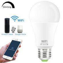 Lâmpada inteligente e27 b22 110v 220v, 15w, wifi, regulável, controle remoto, sem fio, trabalho com amazon alexa google home