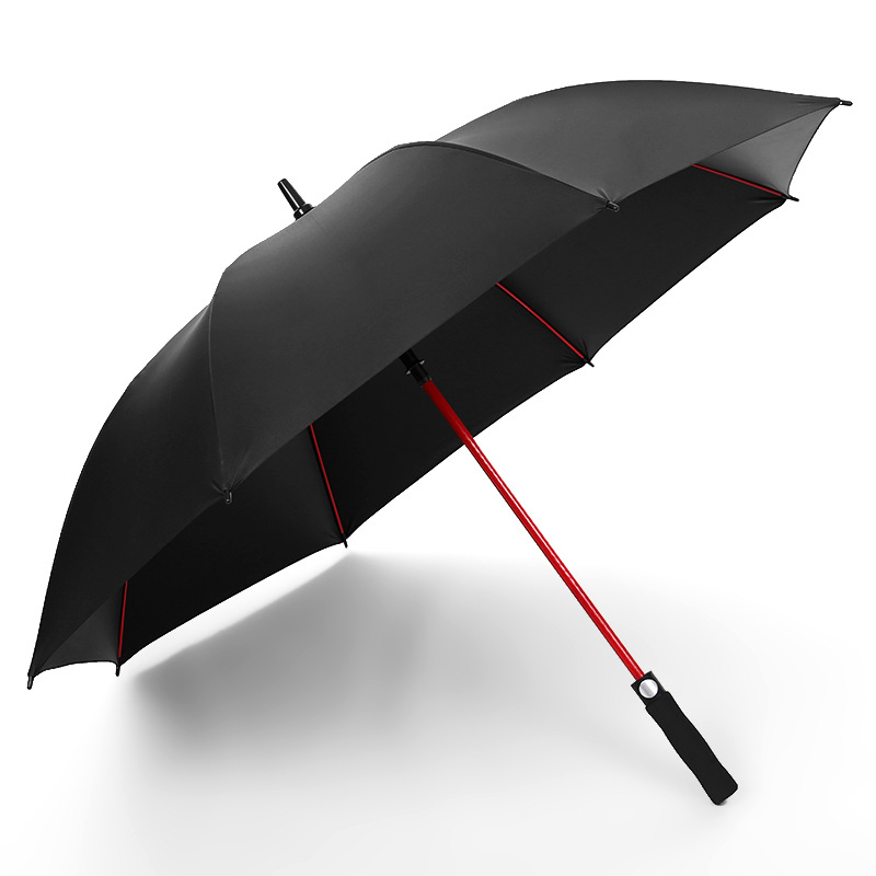 New Style Golf Umbrella Color Skeleton Automatic Long Umbrella Business Straight Umbrella Customizable Logo Advertising Umbrella