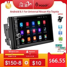 Podofo Radio Multimedia con GPS para coche, Radio con Radio de coche Android 2 din, WIFI, 2 DIN, para Volkswagen, Nissan, Toyota, Kia y Hyundai