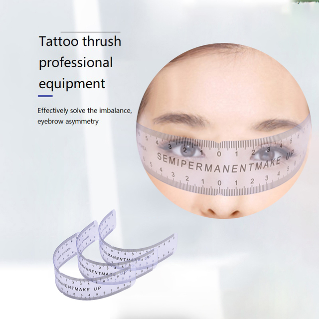 1PCS Reusable Semi Permanent Eyebrow Ruler Eye Brow Measure Tool Eyebrow Guide Ruler Microblading Stencil Makeup Tools 1