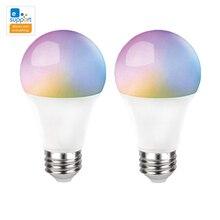 Умная Светодиодная лампа eWeLink, Wi Fi, E27, 9 Вт, RGB + CCT, светильник s, Alexa, Google Home, беспроводной пульт дистанционного управления, 2 упаковки