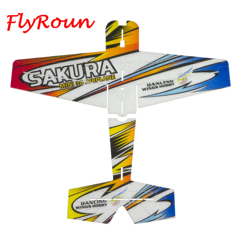 RC Air plane 3D Airplane Micro Mini Foam EPP PP F3P Lightset KIT Model Hobby Toys Sakura Remote Control Toys image