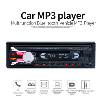Kediefei Car Radio 12V Bluetooth V2.0 MP3 Audio Player removable dechatable front panel MP3 FM function /USB/SD/ In-Dash 1 DIN