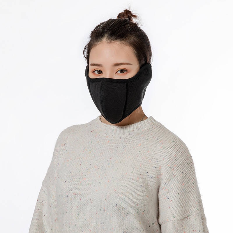 New Men's And Women's Autumn And Winter Earmuffs Cold And Warm Washable Cotton Breathable Two In One Dust All-inclusive Mask