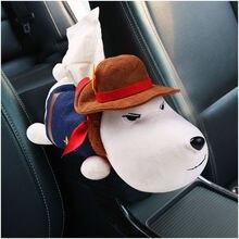 Автомобильный чехол для салфеток, держатель на подлокотник, подголовник, милый плюшевый рисунок хаски, животные, собака, свинья и Декор для дома, с изображением кота ZH001