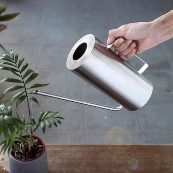 Regadera de acero inoxidable, regadera pequeña para jardinería, regadera pequeña, mango perfecto para regar plantas de flores, ducha para jardín