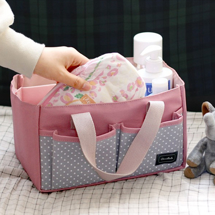 Simple-Style Large-Volume Partition Portable Multi-functional Hand MOTHER'S Bag Hand Diaper Bag Storage Bag