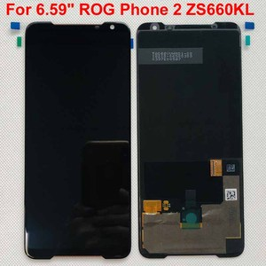 """Image 3 - Originele Nieuwe Voor 6.59 """"Asus Rog Telefoon 2 Phone2 Phoneⅱ ZS660KL Amoled Lcd scherm + Touch Panel Digitizer montage Reparaties"""