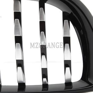 Image 5 - Haube Grill für BMW E46 Saloon 4 Türen 3 Serie 2002 2005 320i 325Xi 330Xi Racing Grille Front Chrome schwarz glänzend Breite Niere