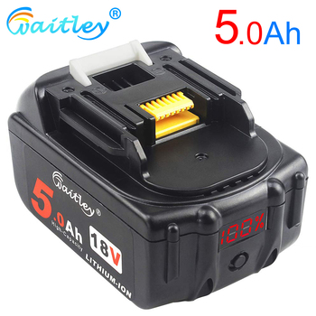 Waitley BL1850 18V 5.0Ah Replacement Battery for Makita Power Tool 5000mah BL1840 BL1860 Battery with LED Power Display 18 v 5A waitley 18v 5 0ah replacement lithium battery for milwaukee m18 power tool ion 18 v batteries 5000mah for cordless drill tools