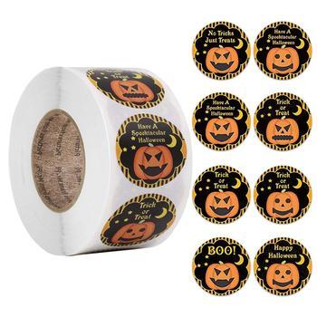 500Pcs/roll Halloween Pumpkin Stickers Cute For School Teachers Rewarding Students Kids Toys Gift - discount item  35% OFF Classic Toys
