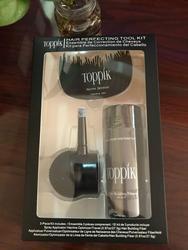 Pacote de caixa fibras do cabelo queratina toppik espessamento spray cabelo construção fibras kit/conjunto