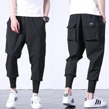 Хит, западный стиль Diablo, модные, индивидуальность, мужские брюки для бега по щиколотку, хип-хоп, Осенние, повседневные, уличные, Мужские штаны-шаровары