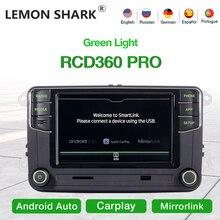 LEMON SHARK RCD360 PRO Green Light Car Radio MIB Android Auto Carplay Navigation Green Menu For VW for Skoda Noname 6RD035187B